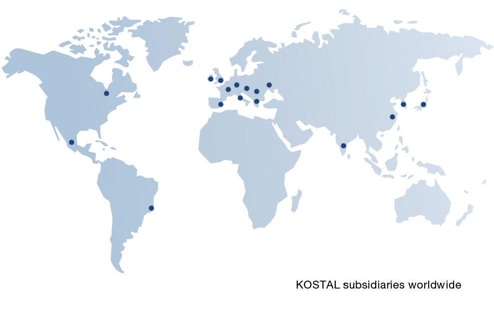 KOSTAL subsidiaries worldwide